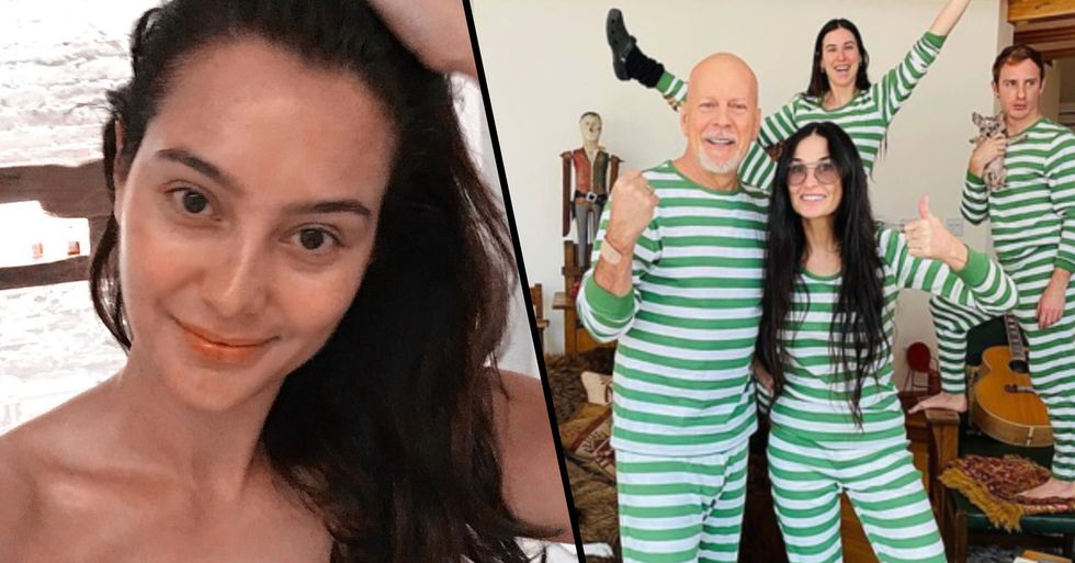Bruce Willis' Wife Reacts to Him Quarantining With Ex Demi Moore
