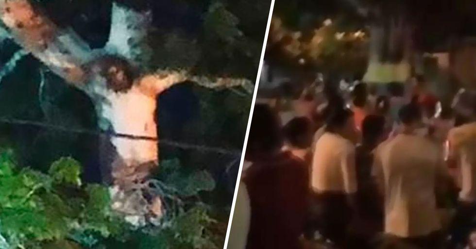 People Break Lockdown Rules as Image of Jesus Christ Appears in Tree