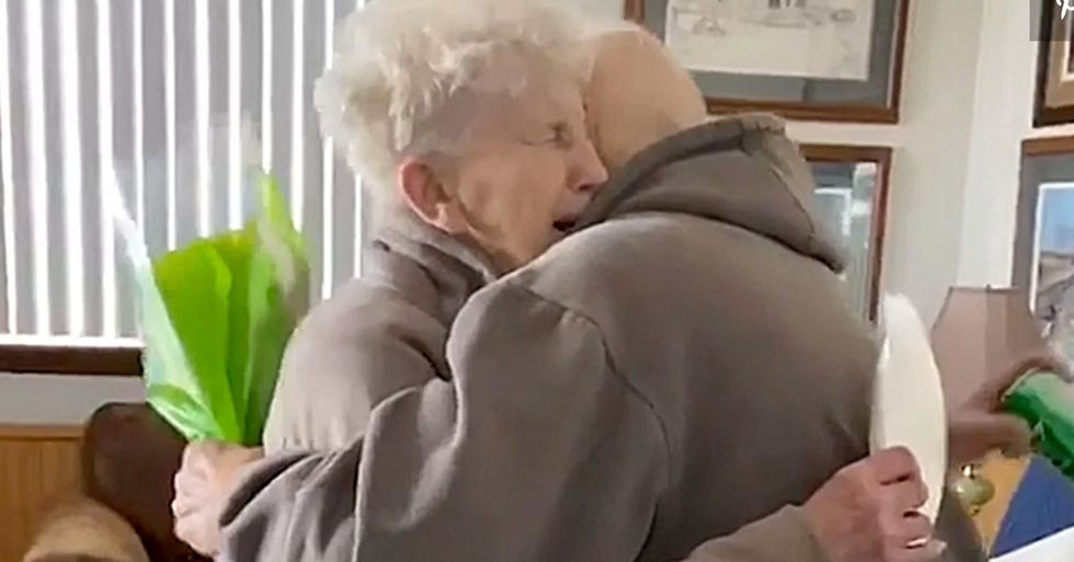 Husband Surprises Wife of 63 Years on Her Birthday After Being Separated by Pandemic