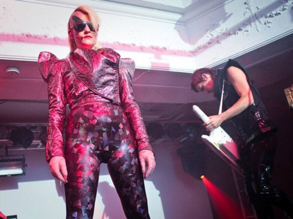 Peaches and Transvestite Porn Star Shock Art Basel Miami Crowd