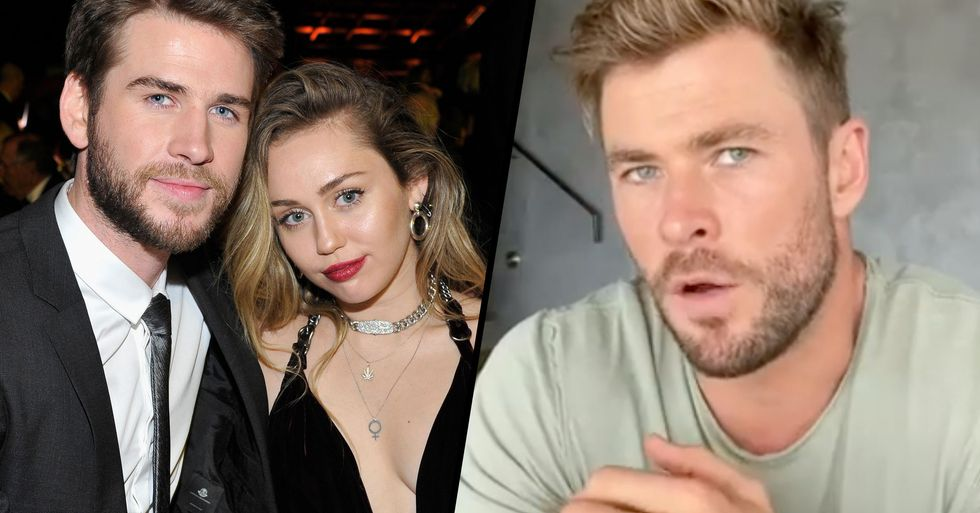 Chris Hemsworth Takes a Brutal Swipe at Miley Cyrus Over Her Nasty Split With Liam Hemsworth