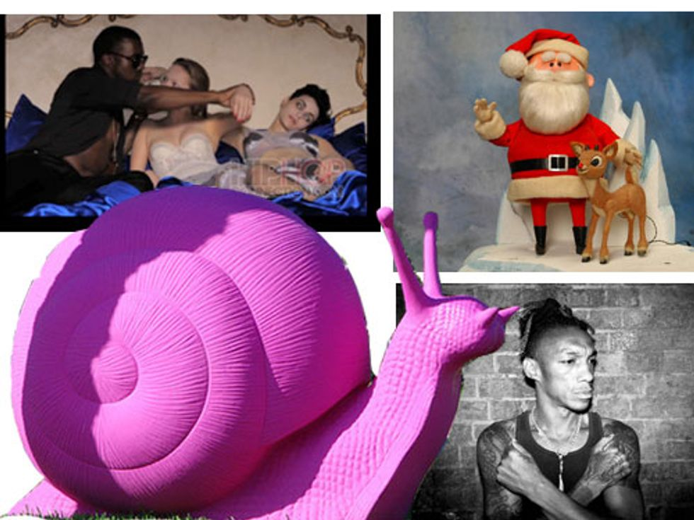 Kanye's Video Preview + Santa Fired in Today's Eight Items or Less