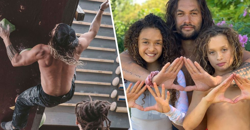 Jason Momoa Is in Charge of 'Gym Class' at Home and His Kids Are Throwing Axes and Climbing Walls