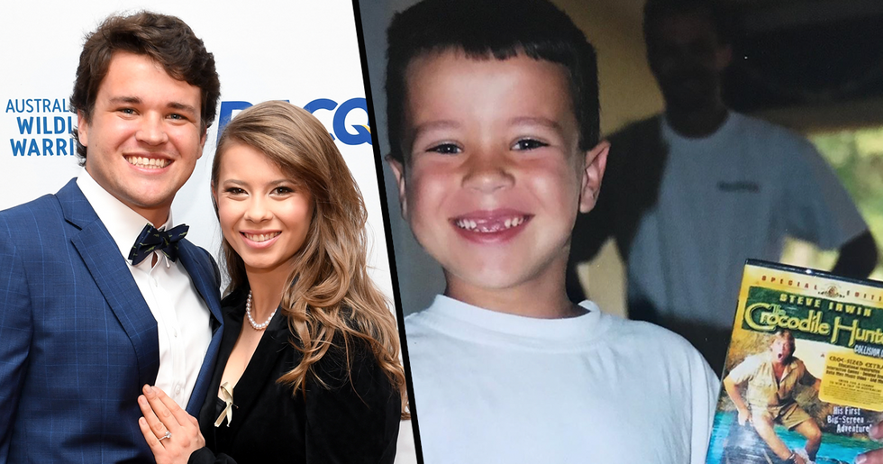 Bindi Irwin Shares Adorable Throwback Photo of Her Husband Watching 'The Crocodile Hunter' as a Kid