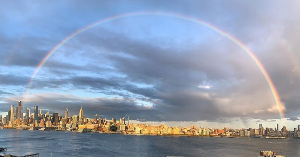 A Perfect Rainbow Appeared Over NYC as New Yorkers Clapped for Their Essential Workers
