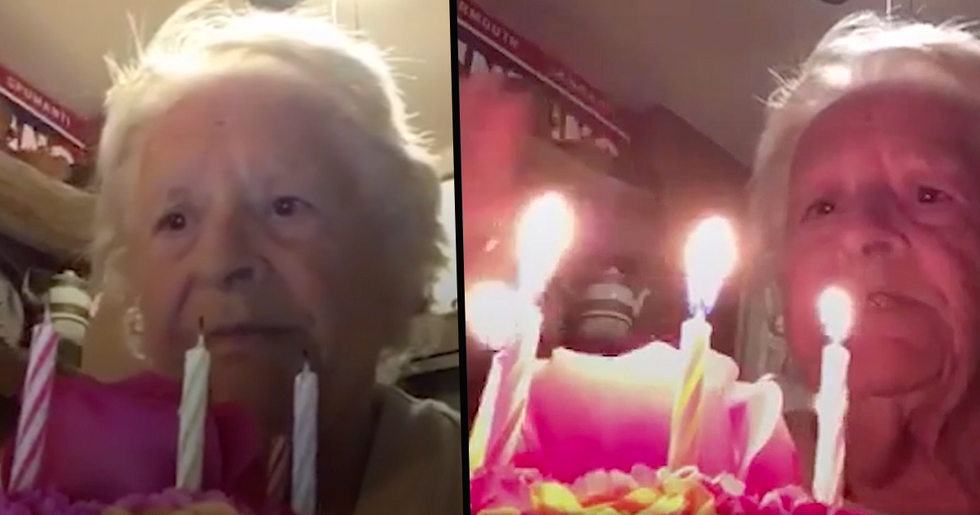 88-Year-Old Sings 'Happy Birthday' to Herself Amid Lockdown and Sends Video to Family