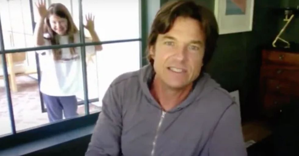 Jason Bateman's Daughter Crashed His Interview and It's the Sweetest Thing