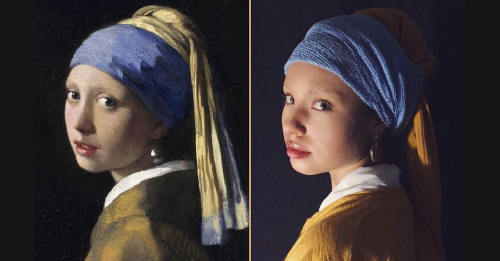 People Are Hilariously Recreating Famous Works of Art in Quarantine