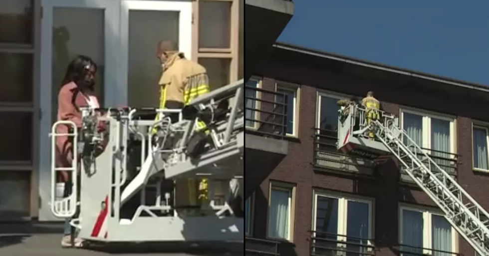 Firefighters Lift Family To Fourth Floor Window To Say Goodbye To Dying Relative