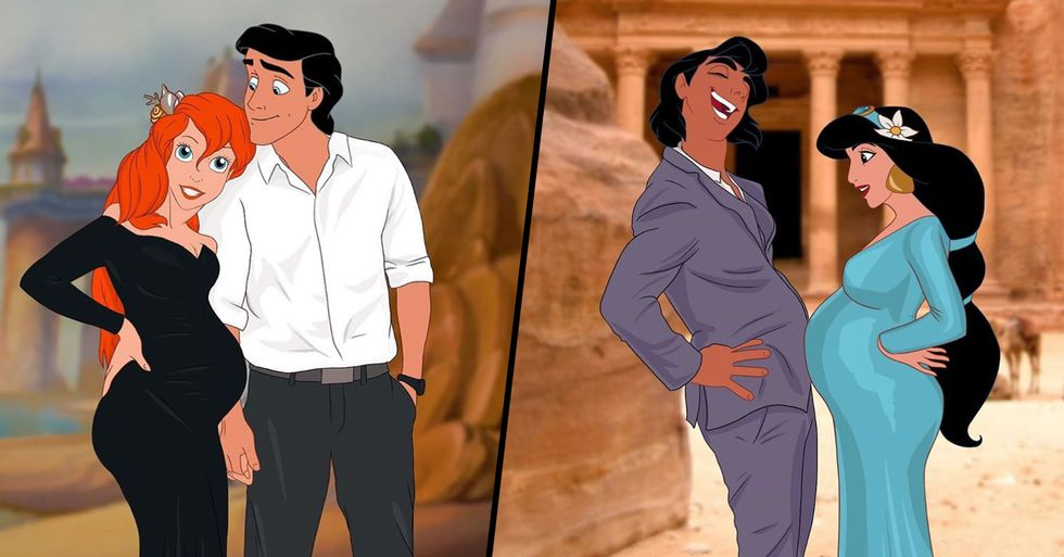 Artist Imagines Disney Princesses as Modern Pregnant Women and We're Obsessed