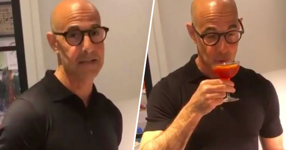 Stanley Tucci Giving a Cocktail Making Lesson Is the Most Soothing Thing You'll See Today
