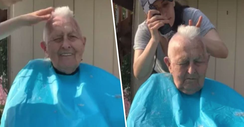 World War 2 Veteran Shaves Hair Into a Mohawk Again as Tribute to Fallen Friends