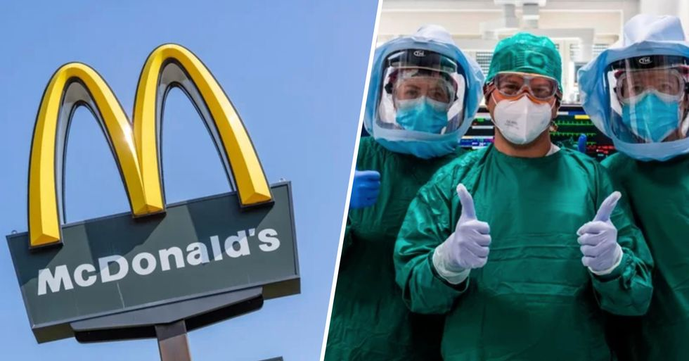 McDonald's Announce All Healthcare Workers and First Responders Will Get a Free Meal on Them