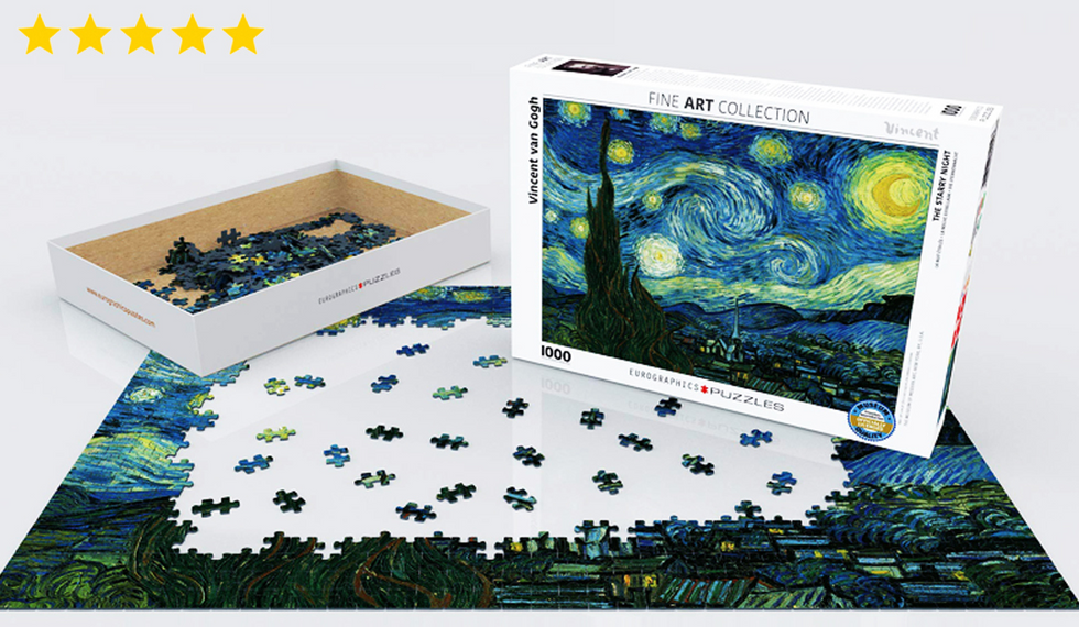1,000 Piece Vincent Van Gogh Starry Night Jigsaw Called 'Most Beautiful in the World'