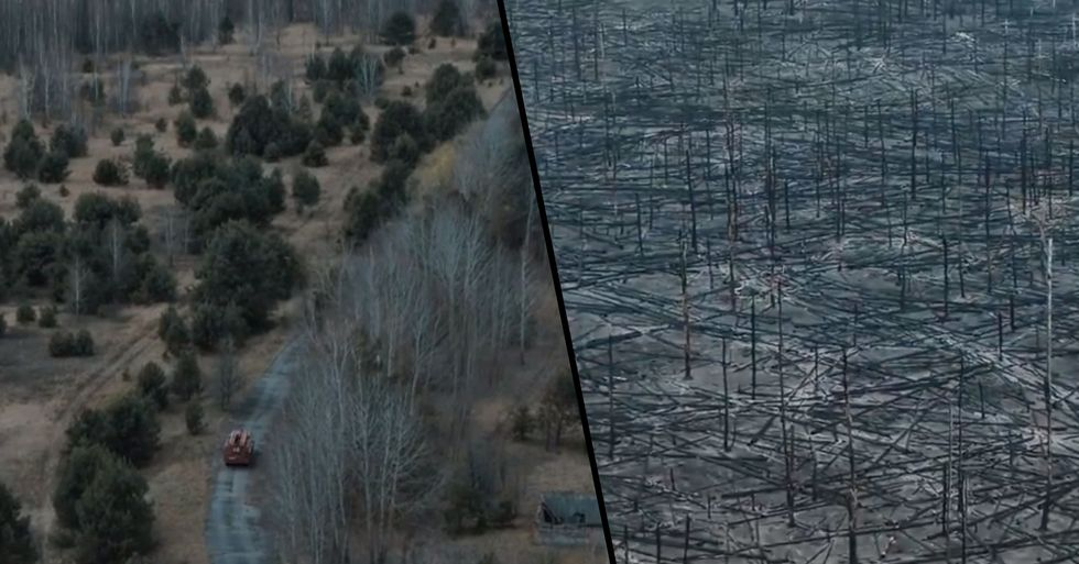 Shocking Drone Footage Shows the Devastation of Chernobyl Forest Fires