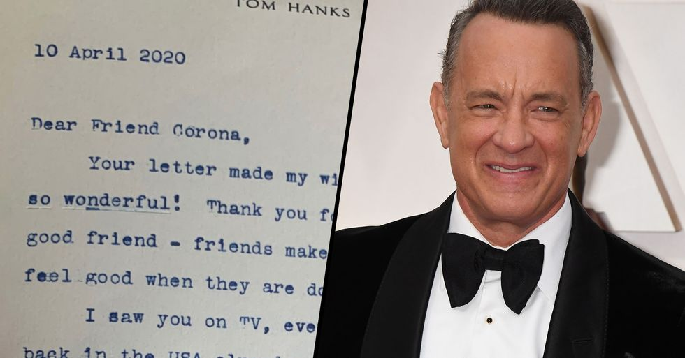 Tom Hanks Writes Letter to Bullied Boy Named 'Corona'
