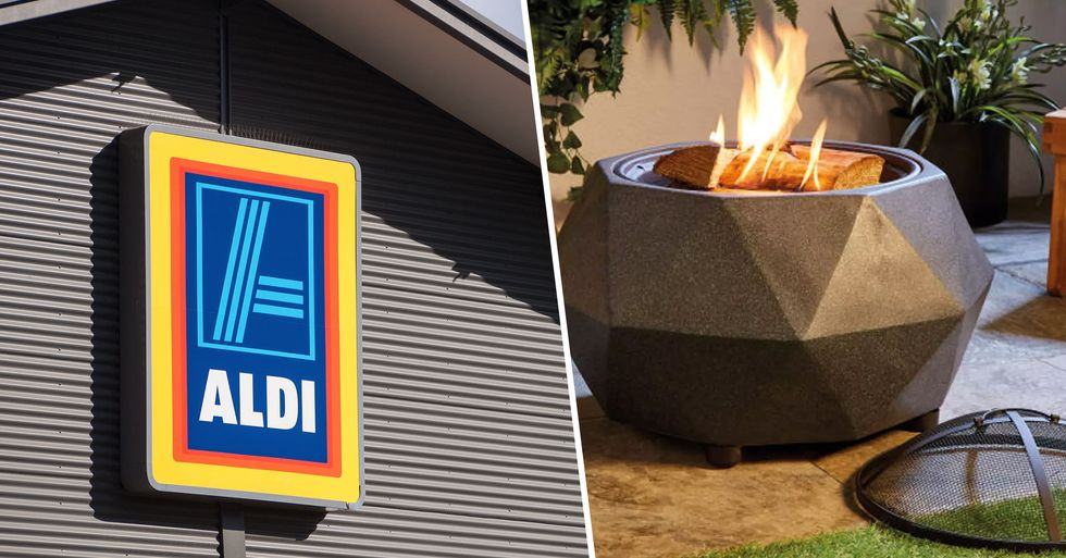 Aldi Is Bringing Back Its Famous Fire Pit That Doubles as a BBQ