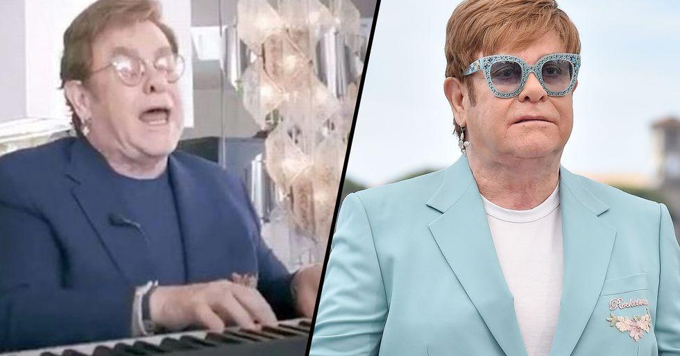 Elton John Sparks Concern as He's 'Unable to Speak' and Slurs Words During Live Performance