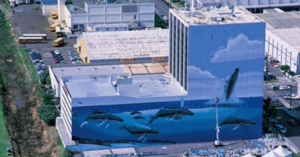 Huge Downtown Mural Resurfaces From Beneath Ads That Covered It for Years