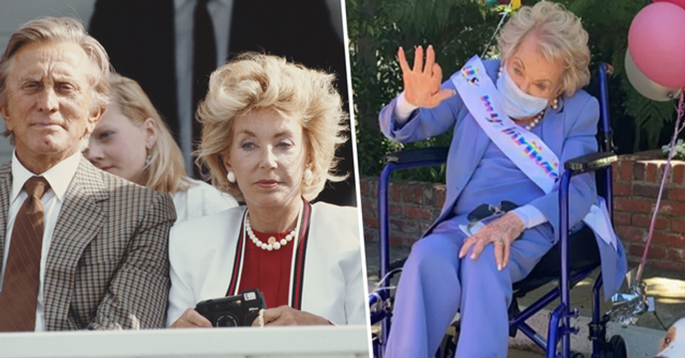 Kirk Douglas' Widow Anne Buydens Turns 101 as Family Celebrates With Socially Distanced Procession