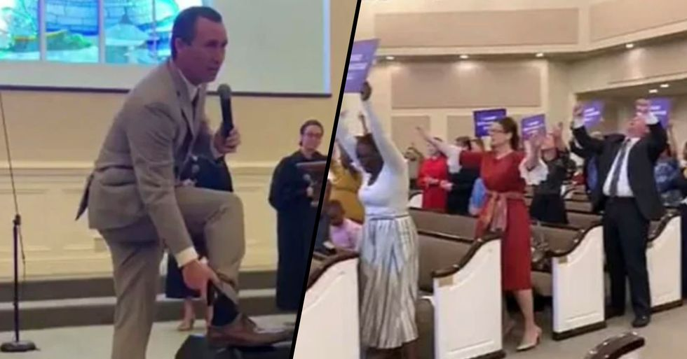 Pastor Tony Spell Defies House Arrest and Holds Church Service With Ankle Monitor