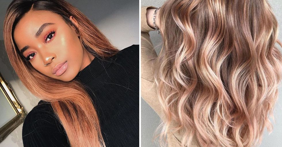 Rose Gold Hair Is the Internet's Newest Obsession and It's Got Us Reaching for the Hair Dye