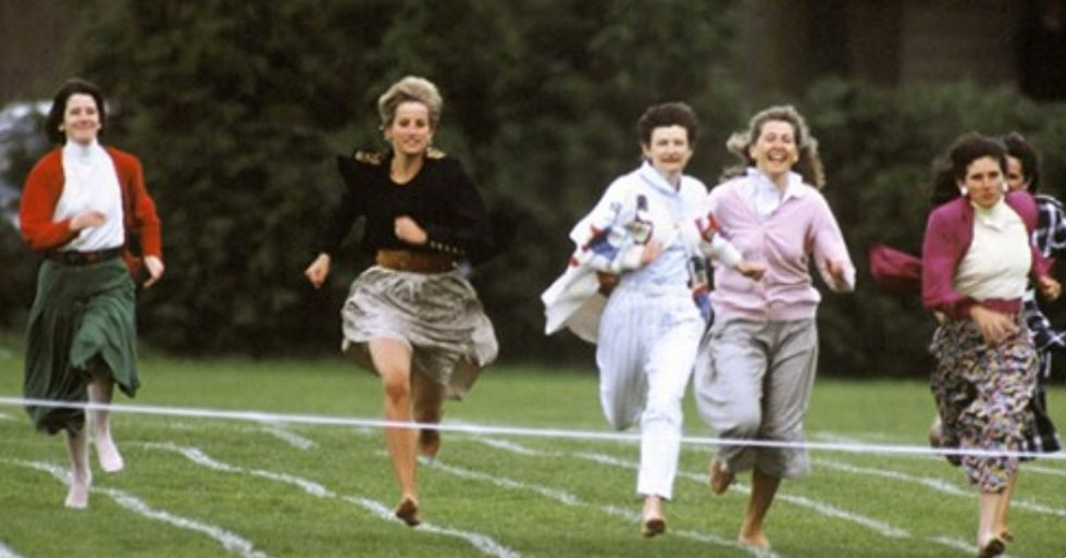 Heartwarming Footage of Princess Diana Breaking Royal Protocol on a Mother's Day Run Has Resurfaced