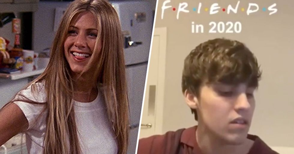 Jennifer Aniston Shares Hilarious Clip of What 'Friends' Would Be Like If It Was Filmed During the Pandemic