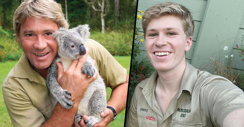 Robert Irwin Perfectly Recreates His Dad's Famous Koala Photo