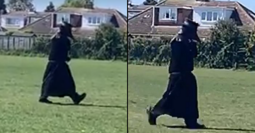 Police Hunting For Man Dressed As Plague Doctor Who's Been Frightening Locals