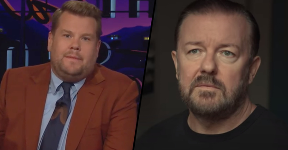 Ricky Gervais Takes Savage Swipe At James Corden in New Netflix Show