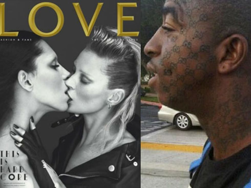 Lea T. and Kate Moss in LOVE + Fashion Tattoos Are Forever in Today's Style Scraps