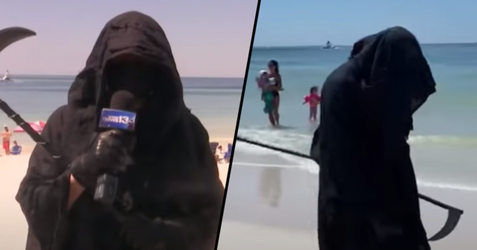 Grim Reaper Visiting Florida Beaches to Urge People to Stay at Home