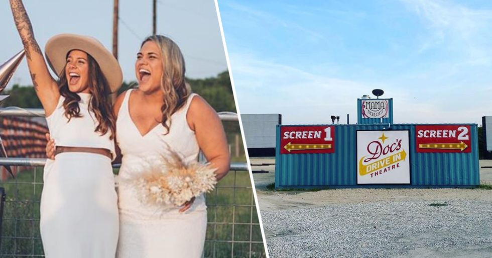 Couple Get Married at Drive-In so Guests Can Social Distance by Sitting in Their Cars