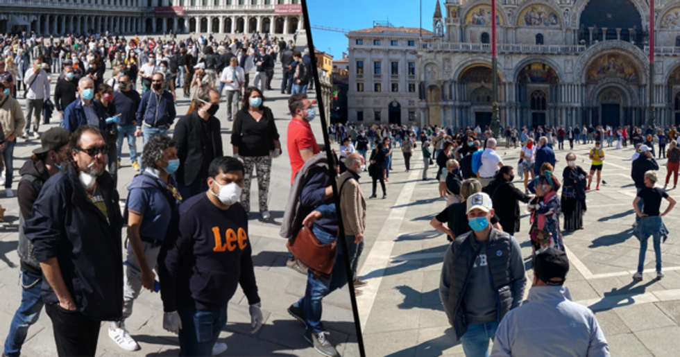 Italy's Streets Are Crowded for the First Time in 9 Weeks as Restrictions Are Lifted