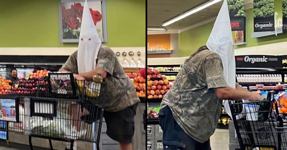 Man Wears KKK Hood While Grocery Shopping in California