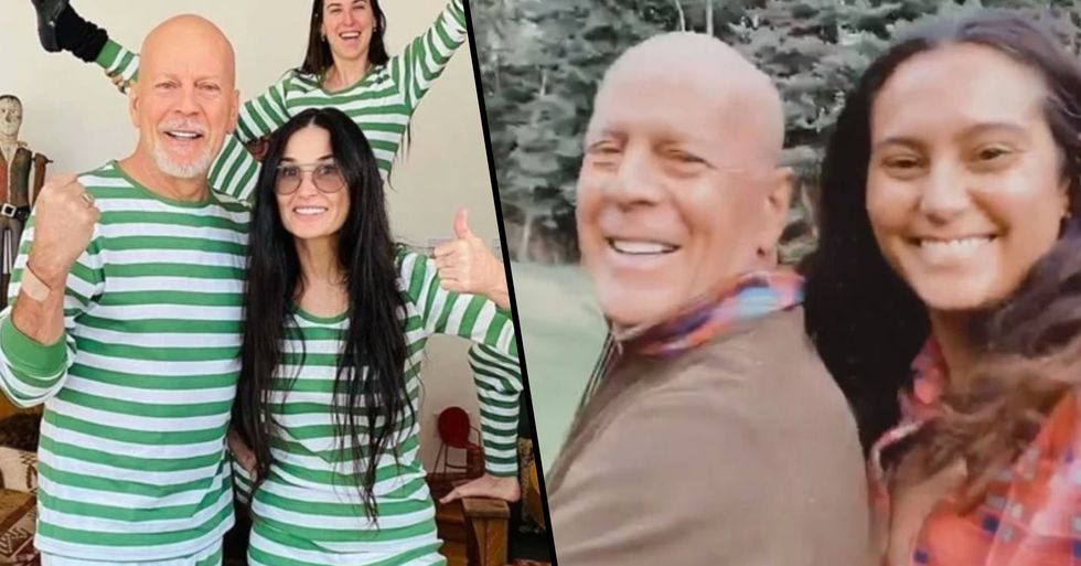 Bruce Willis Reunites With Wife and Young Kids As They Join Him Quarantining at Ex Demi Moore's House