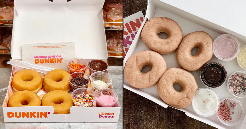 Dunkin' Is Selling DIY Donut Kits That Come With a Variety of Frostings and Sprinkles