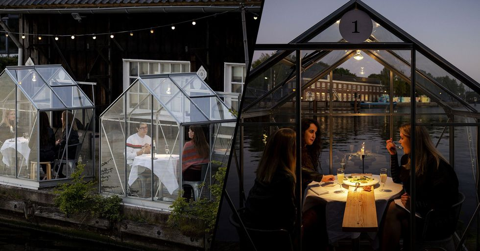 Amsterdam Restaurant Perfectly Nails Socially-Distant Dining