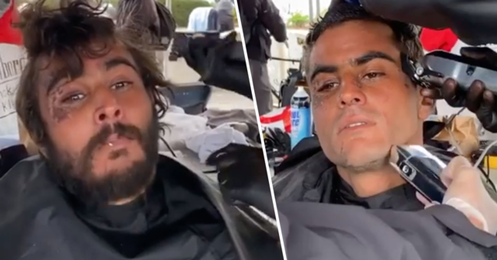 Free Haircut Transforms Homeless Man Into 'Model'