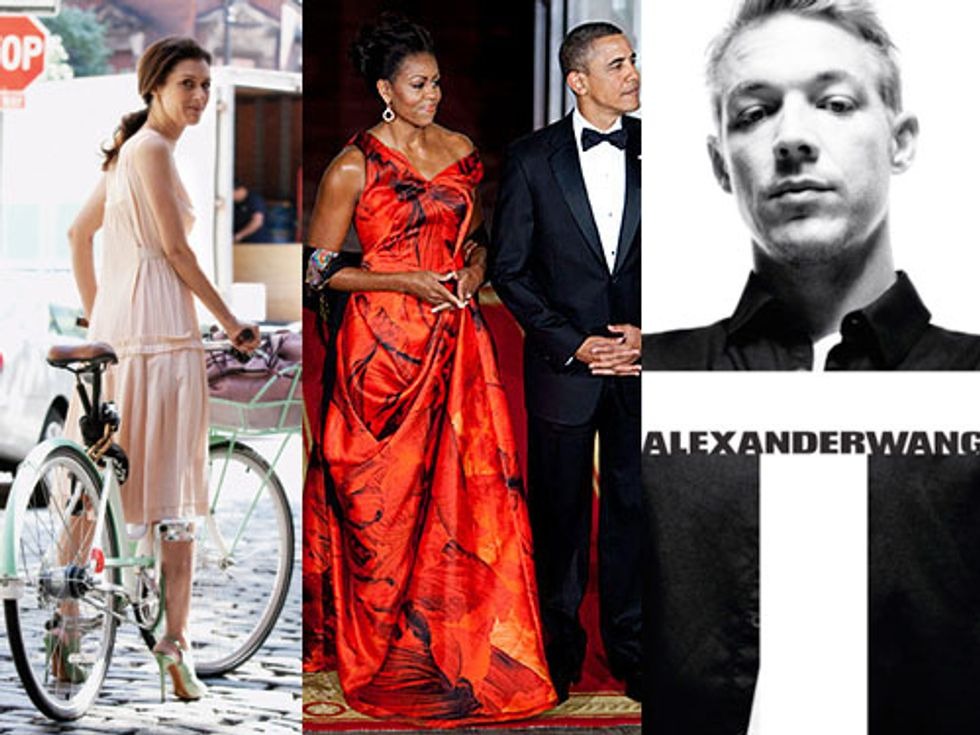 Sally Singer on Michelle Obama's McQueen Moment + Diplo Models Alexander Wang in Today's Style Scraps