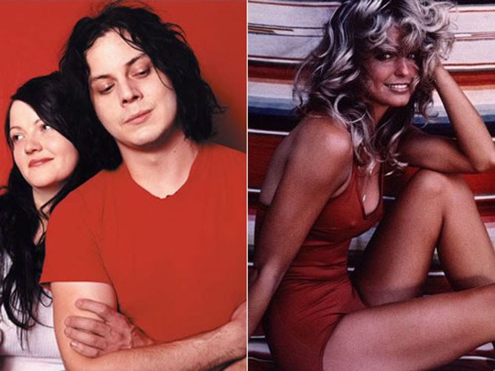The White Stripes Break Up + Farrah Fawcett's Swimsuit in the Smithsonian in Today's Eight Items or Less