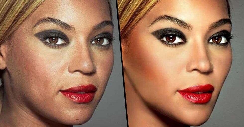 Side-By-Sides Show the Shocking Before and After Effects of Photoshop on Hollywood's Biggest Stars