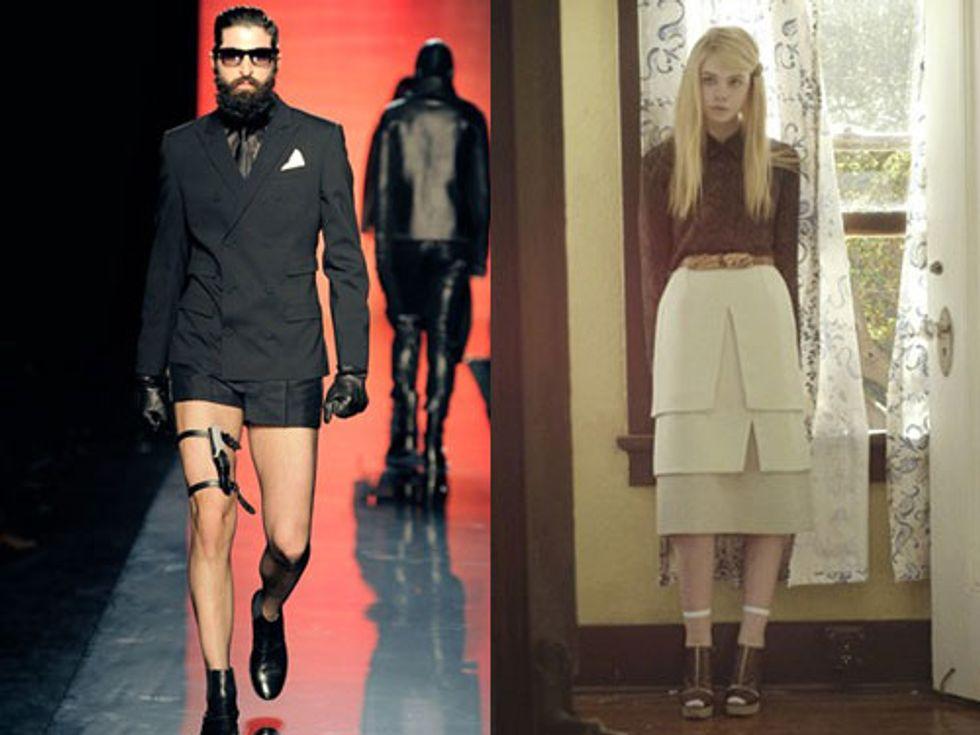 """Femimen"" Take Over the Runway + Elle Fanning in a Rodarte Movie in Today's Style Scraps"