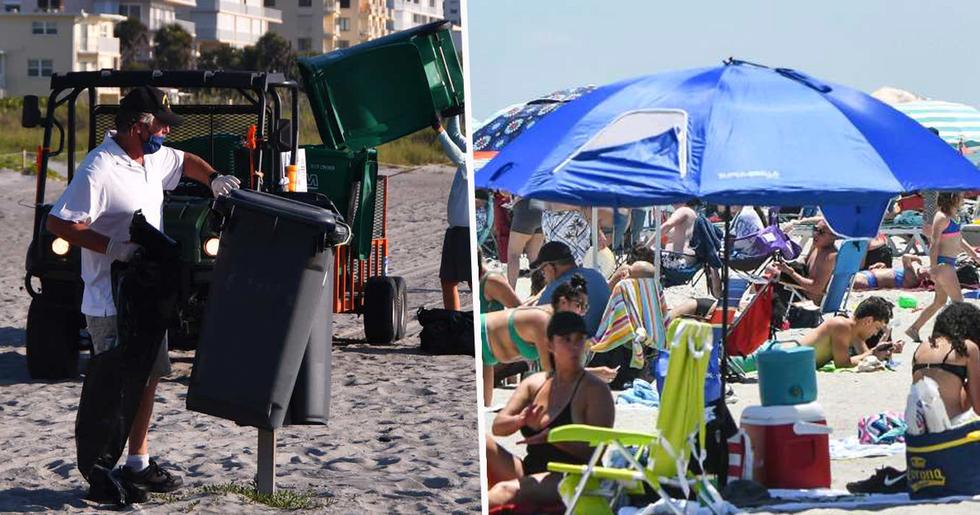 Returning Beachgoers Left 13,000 Pounds of Trash on Florida's Cocoa Beach