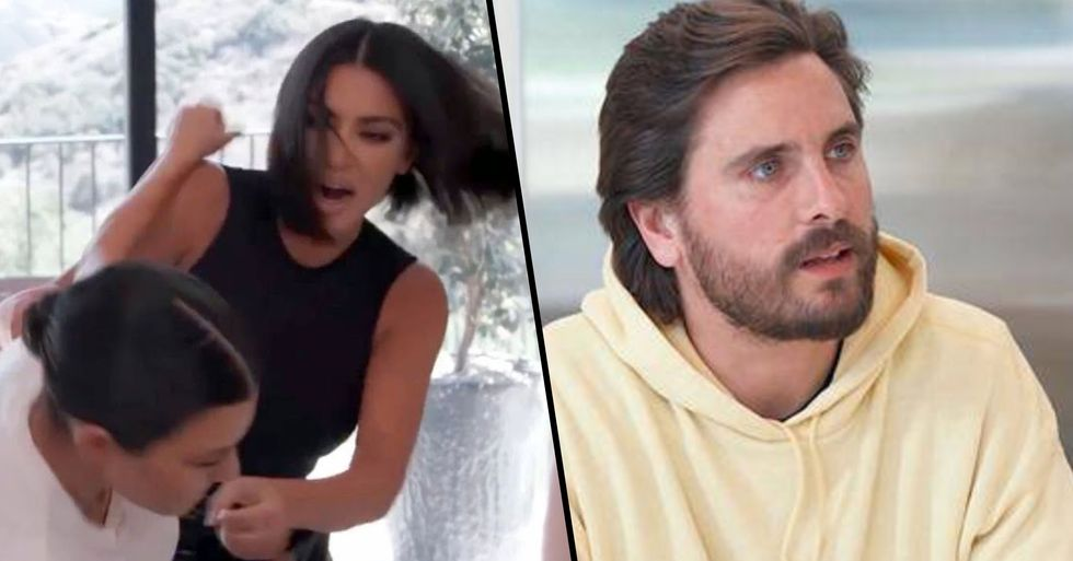 Scott Disick Deeply Concerned for Kids Following Kourtney and Kim's Vicious Fight