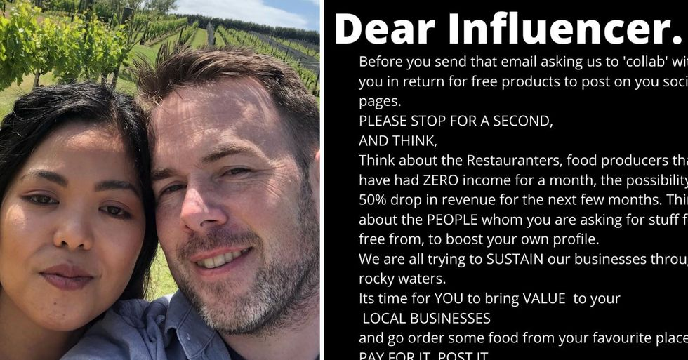 Restaurant Owner Pens Open Letter to Influencers Asking for Free Food