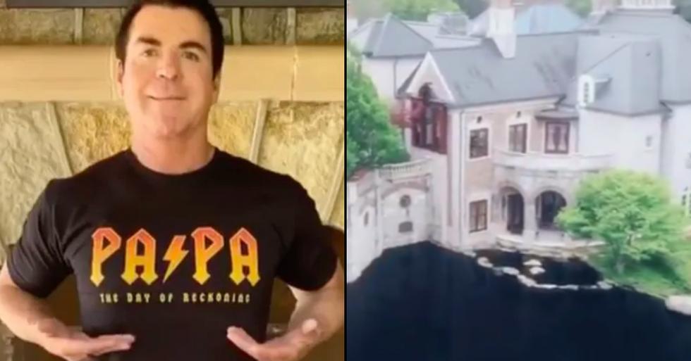 Papa John Shows Off His Incredibly Gaudy Mansion On TikTok