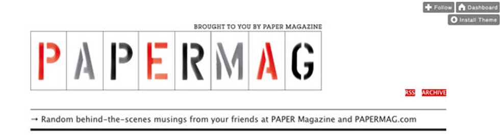 PAPERMAG Tumbls For You During New York Fashion Week