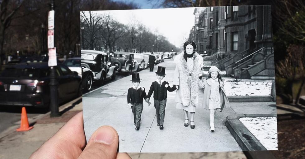 A Man Is Bringing Historical Photos to Their Original Locations, and We're in Awe
